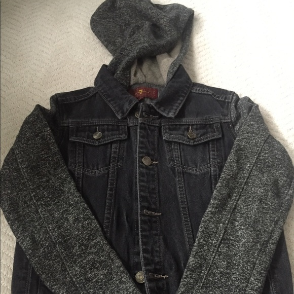 7 For All Mankind Other - 7 for all mankind Gray/black jean jacket -Large